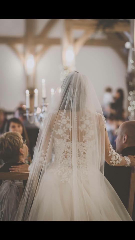 illusion back wedding dress