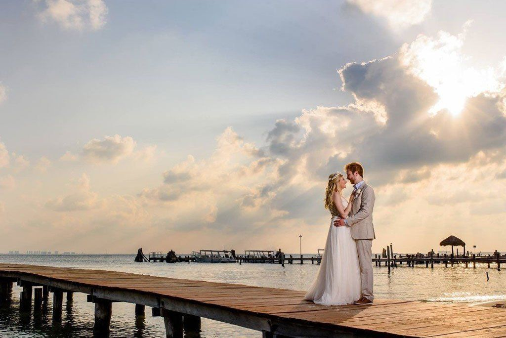 elopement bride and groom