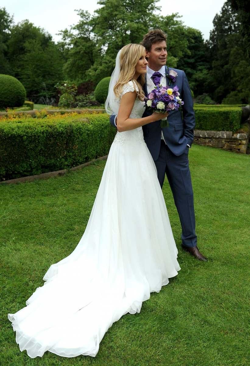 beautiful bride in her wedding dress