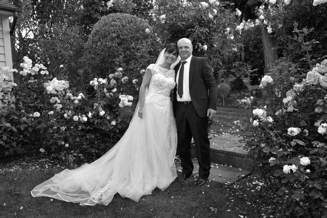 our bespoke bride in rose garden