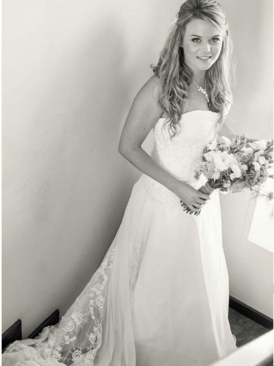 happy bespoke bride