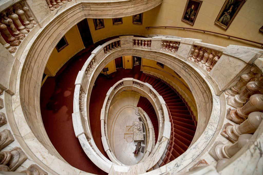 large marble staircase